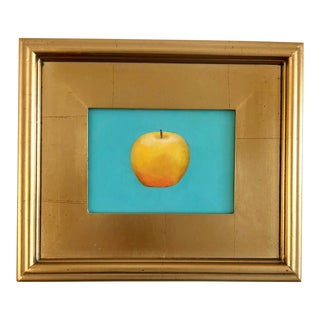 Contemporary Yellow Apple Framed Painting For Sale