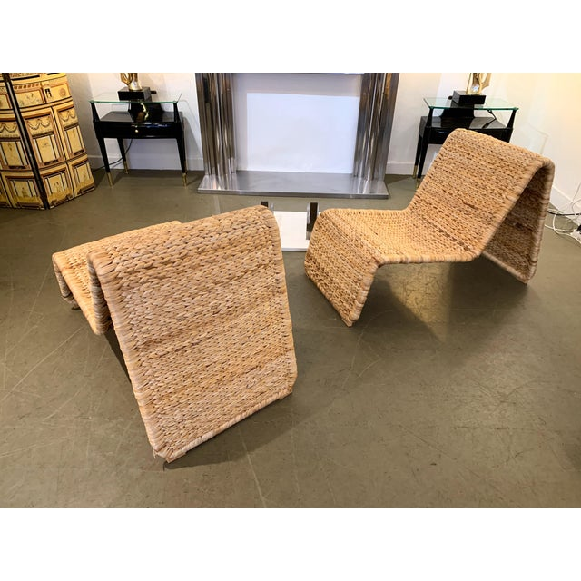 1980s 1980s Tito Agnoli P3 Rattan Lounge Chairs- a Pair For Sale - Image 5 of 12