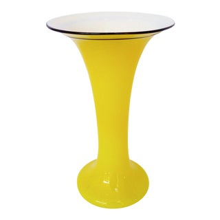 "Yellow ""Tango"" Glass Vase For Sale"