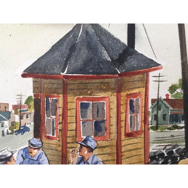 Shooting the Breeze Watercolor by Hal Werneke For Sale In Monterey, CA - Image 6 of 11