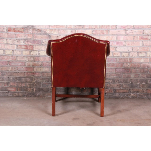 Hancock & Moore Chesterfield Tufted Leather Club Chair For Sale - Image 9 of 11
