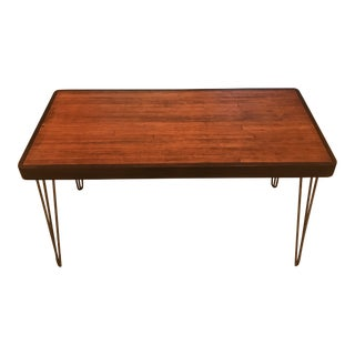 1960s Bowling Alley Coffee Table With Hair Pin Legs For Sale