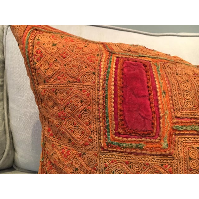 Vintage Thai Applique Pillow - Image 3 of 5