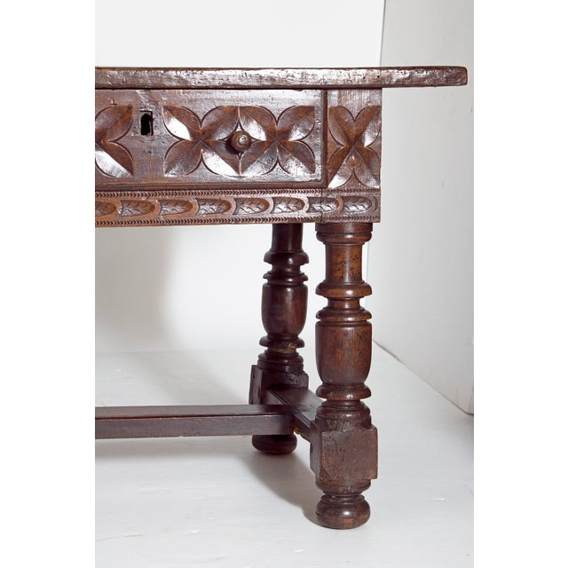 Baroque Late 17th Century Spanish Baroque Walnut Center Table For Sale - Image 3 of 13