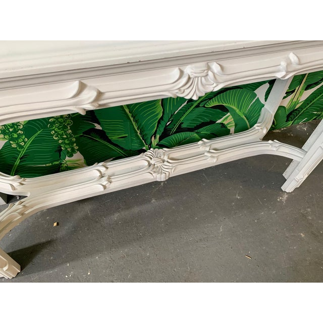 1970s Roche Style Gampel Stoll Console Table and Mirror For Sale - Image 5 of 8