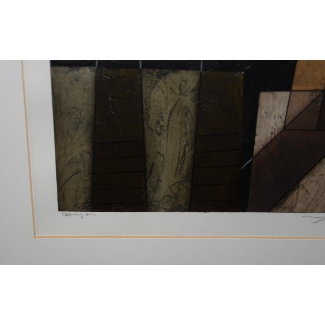 Modernist Abstract Oil Painting on Paper For Sale - Image 4 of 8