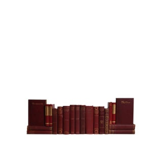 Vintage Verse in Scarlet & Gilt :Set of Twenty Decorative Books For Sale