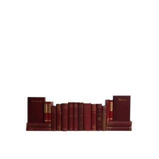 Vintage Verse in Scarlet & Gilt :Set of Twenty Decorative Books