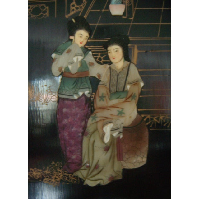 """""""Courtesans in the Garden"""" Wall Hangings (Four) - Image 5 of 8"""