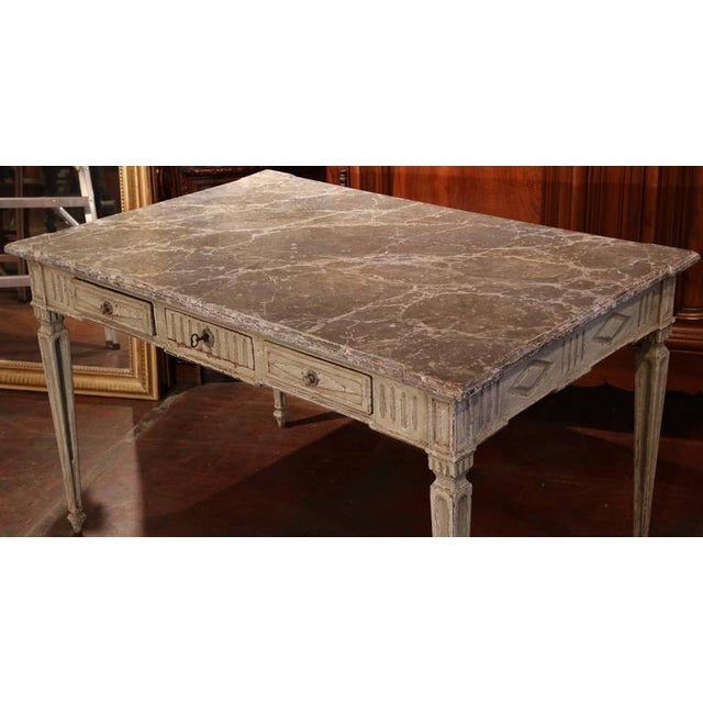 19th Century French Louis XVI Writing Desk For Sale - Image 4 of 9