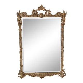 Friedman Brothers Ornate Mirror With Phoenix For Sale