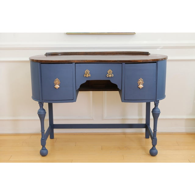 Circa 1930 Louis XV Style Petite Kidney Shaped Desk For Sale - Image 11 of 11