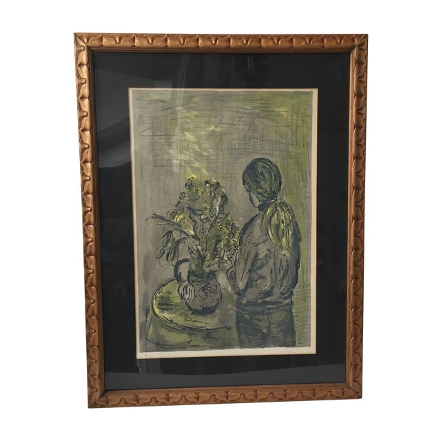 Woodframed Lithograph - Image 1 of 6