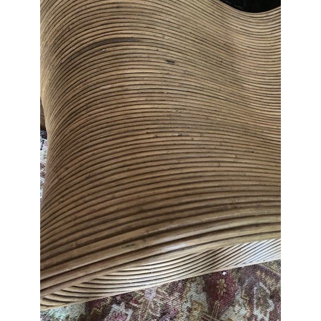 Sculptural Pencil Reed Bamboo Ear Lounge Chair For Sale - Image 11 of 13