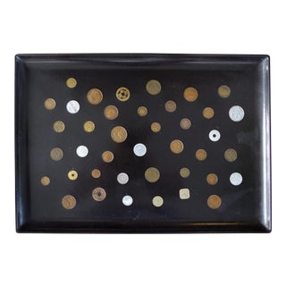 Couroc of Monterey Serving Tray W/ Inset International Coins