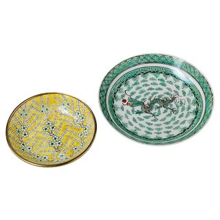 Ceramic Asian Catchall Dishes - A Pair
