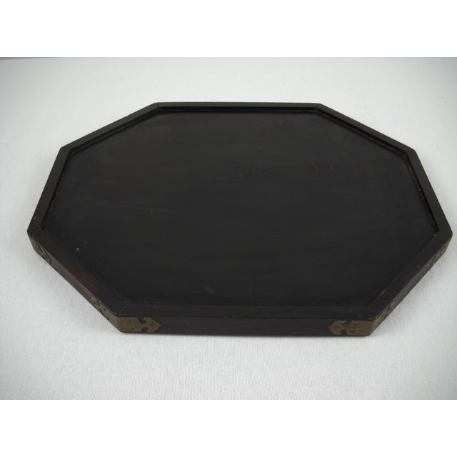 Asian Wood and Brass Serving Tray - Image 8 of 8