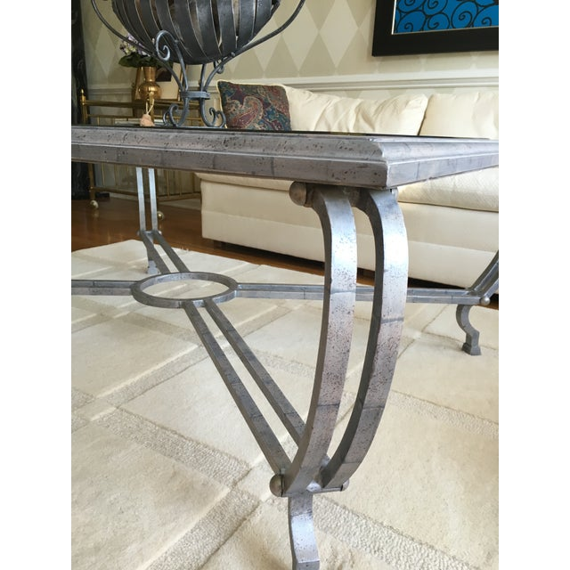 Metal Finish Glass Cocktail Table - Image 3 of 8