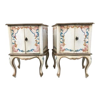 Pair of Hand-Painted Venetian Cabinets For Sale