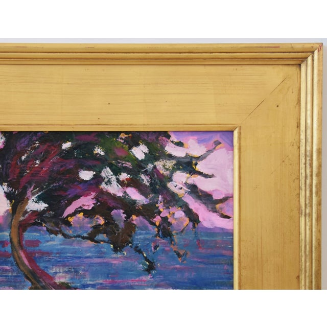 Mid 20th Century Impressionist Seascape Landscape Painting by Juan Pepe Guzman For Sale - Image 5 of 10