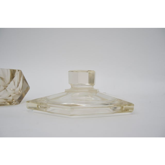 Art Deco 1930s Cut Crystal Covered Dish For Sale In West Palm - Image 6 of 12