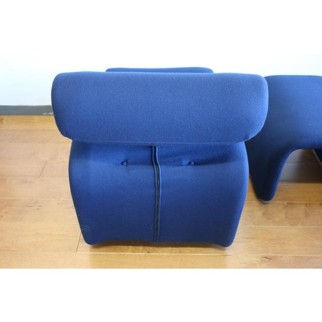 Ribbon Lounge Chair and Ottoman by Oliver Mourgue For Sale - Image 9 of 12