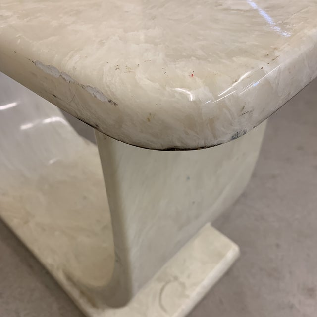 Cultured Marble Console Table For Sale - Image 9 of 11