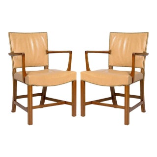 Pair of Kaare Klint Armchairs For Sale