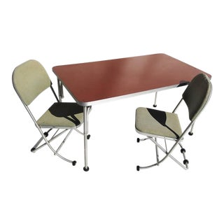 1930s Warren McArthur Art Deco Dinette Table and Chairs - Set of 3 For Sale