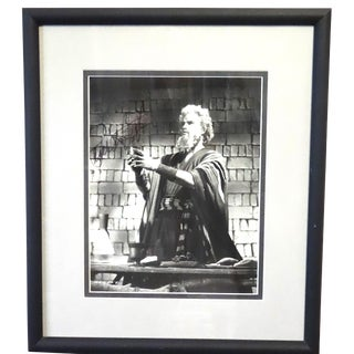 """The Ten Commandments"" 1956 Movie Still Frame Photo With Charlton Heston Autograph For Sale"