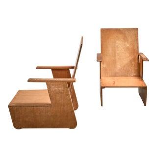 Pair of De Stijl Era Chairs, Dutch For Sale