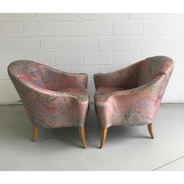 Late 20th Century Thayer Coggin Design Studio Vintage Lounge Chairs - a Pair For Sale - Image 5 of 13