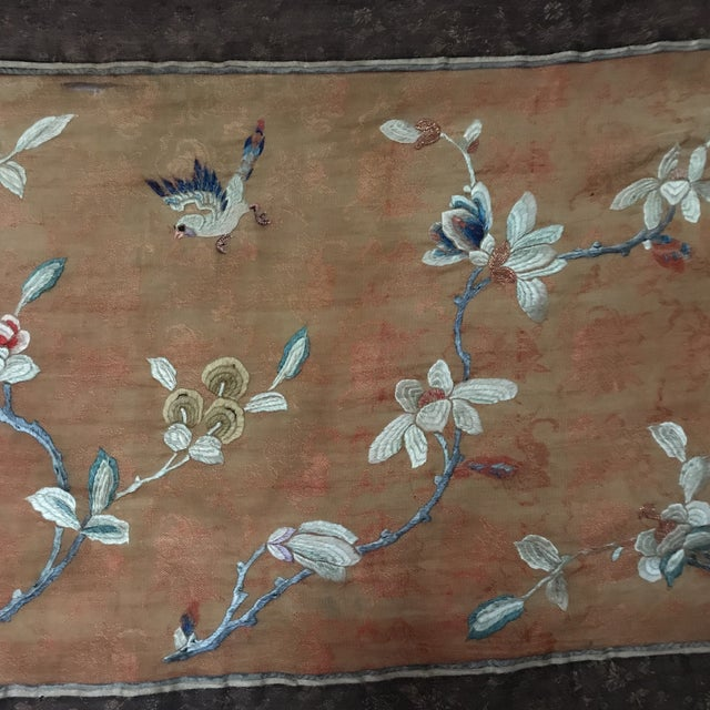 Tapestry - Chinese Vintage Silk - Image 6 of 8