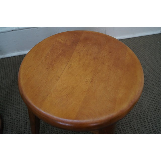 Vintage Solid Maple Stools or Benches - Set of 4 - Image 7 of 10