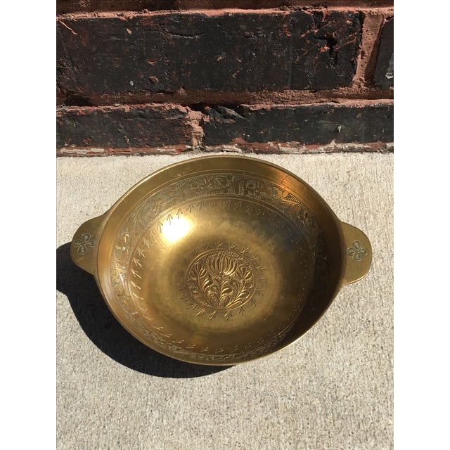 Vintage Chinoiserie Brass Bowl or Catch All - Image 2 of 4