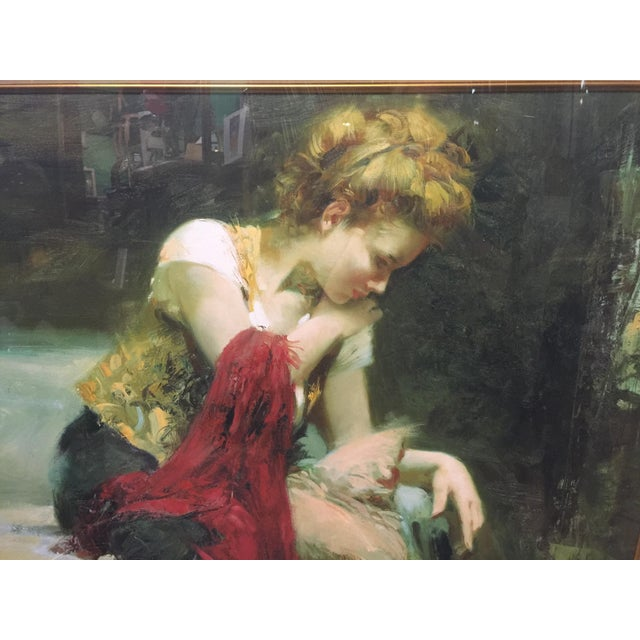 Portraiture Pino Daeni Lithograph Contemplation Signed Limeted Edition For Sale - Image 3 of 7