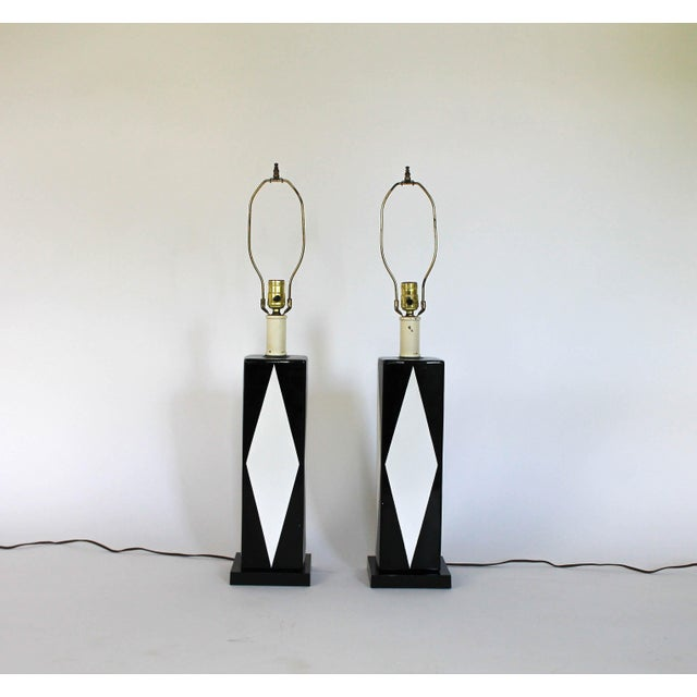 Pair of Mid-Century Ceramic Table Lamps - Image 8 of 8