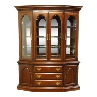Sumter Cabinet Solid Cherry Chippendale Traditional China Cabinet For Sale