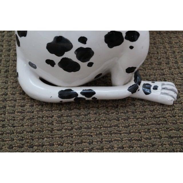 Black Vintage Italian Pottery Dalmatian Dog Statue For Sale - Image 8 of 10