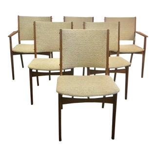 Mid-Century Modern Danish Teak Dining Chairs - Set of 6 For Sale