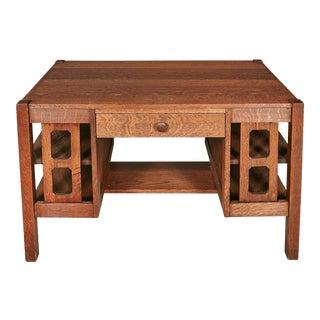 Mission Oak Wood Desk For Sale