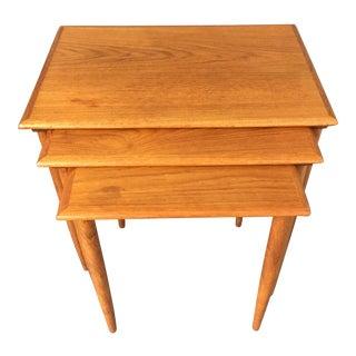 1960s Mid Century Modern Teak Nesting Tables - Set of 3 For Sale