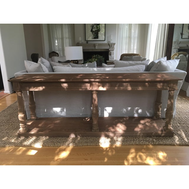 Restoration Hardware Distressed Rectory Console Table Image 2 Of 8