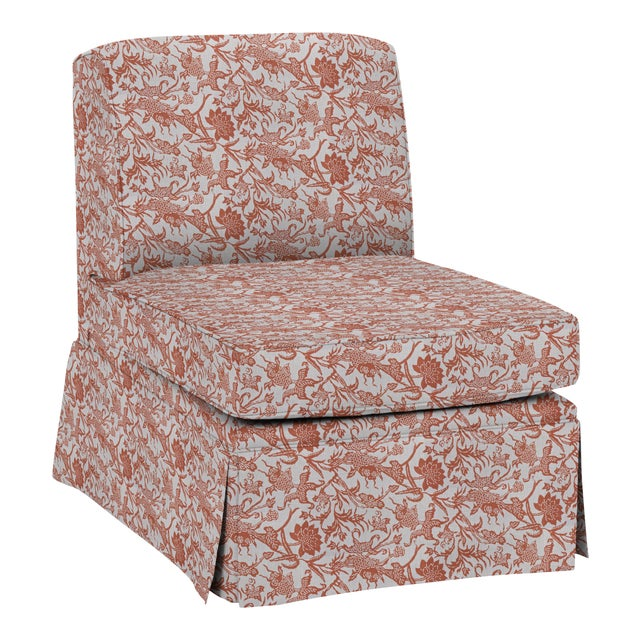 Not Yet Made - Made To Order LuRu Home for Casa Cosima Slipper Chair, Prussian Carp, Paprika For Sale - Image 5 of 5
