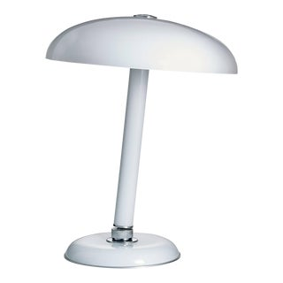Snodo Carlo Moretti Contemporary Milk White Murano Glass Table Lamp For Sale