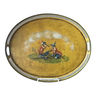 Mid 19th Century Yellow Metal Tole Tray