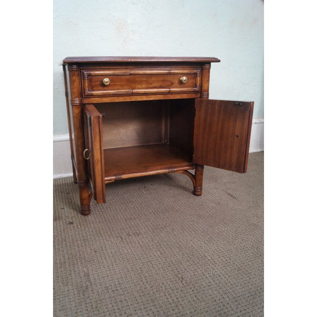 Drexel Heritage Faux Bamboo Nightstands - A Pair - Image 6 of 10