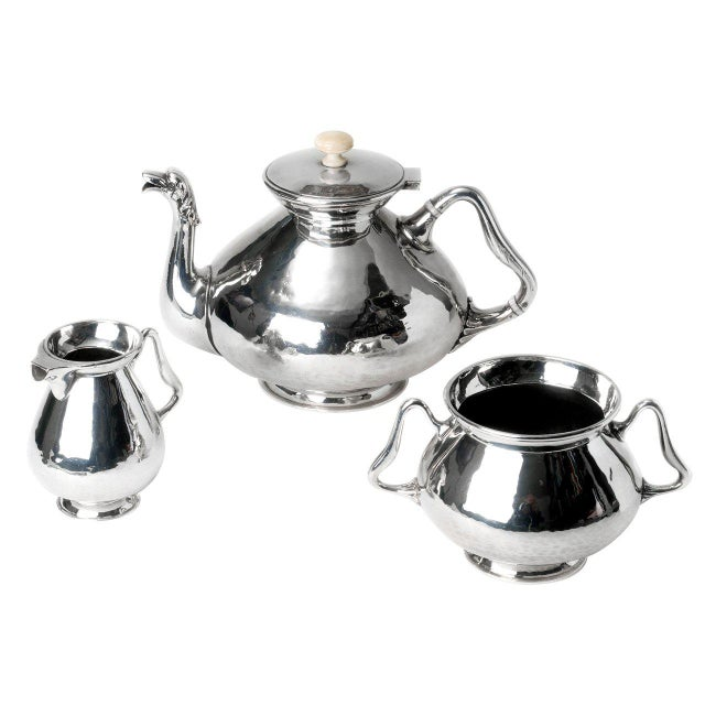 Hollywood Regency Duchess of Sutherland Silver Plate Tea Service For Sale - Image 3 of 3