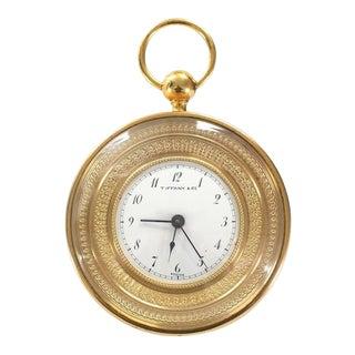 Tiffany Vintage Bronze Travel Alarm Clock
