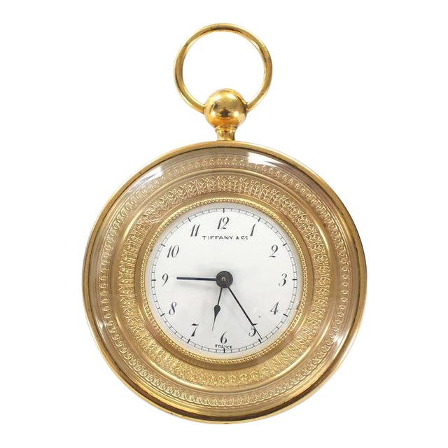 Tiffany Vintage Bronze Travel Alarm Clock For Sale